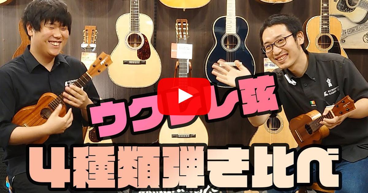 【こんなに変わる!?】ウクレレ弦オススメ4選!メーカーや素材による音の違いを解説
