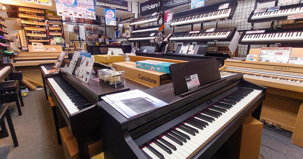 クロサワ楽器お茶の水駅前店 電子ピアノフロア
